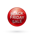 Black friday button vector image vector image