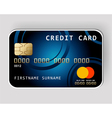 blue credit card vector image
