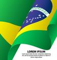 Brazil Waving Flag Background vector image vector image