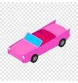 car convertible isometric icon vector image vector image