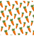 carrots fresh pattern background vector image