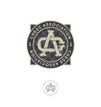 chess association emblem c and a letters vector image vector image