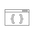 coding computer website programming language page vector image vector image
