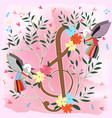 colorful birds and music note flower tree vector image