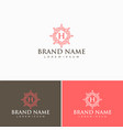 creative abstract logo design template vector image