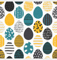 cute seamless pattern with ucrainian easter eggs vector image