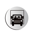 degraded circular shape road sign of bus crossing vector image vector image