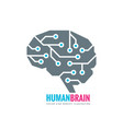 digital human brain - logo concept vector image