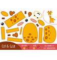 education paper game for children giraffe vector image vector image