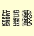 fashion slogan t-shirt print stamp for t shirts vector image vector image