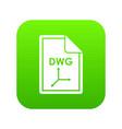 file dwg icon digital green vector image vector image
