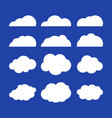flat clouds set blue sky background flat vector image