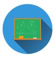 Flat design icon of Classroom blackboard in ui vector image vector image