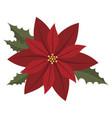 flower poinsettia cartoon christmas vector image