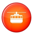 Funicular icon flat style vector image vector image