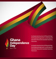 ghana independence day template design vector image