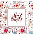 ginger biscuit christmas cookies with decor vector image vector image