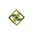 green landscaping design vector image