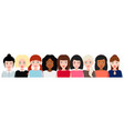 group of smiling women a social movement the vector image vector image