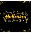 Halloween Gold Lettering over Black vector image vector image