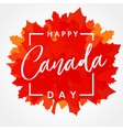 happy canada day maple leaf banner vector image
