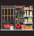 horticulture accessory and gardener equipment vector image