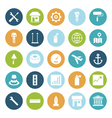 icons plain circle industrial vector image vector image