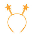 isolated headband icon with star shape ears vector image vector image