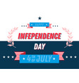 july 4th independence day banner typographic vector image vector image