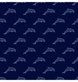 Jumping dolphins pattern vector image