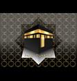 kaaba hajj in mecca saudi arabia hajj mubarak vector image