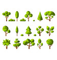 low poly plants geometrical cartoon stylized vector image vector image