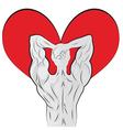 Man body shaped as heart for valentine day vector image vector image