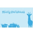 Merry Christmas Backgrounds gift and deer of vector image vector image