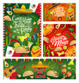 mexican party guitars fiesta sombreros and flags vector image vector image