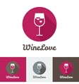 modern flat wine shop restaurant or bar logo vector image