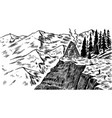 mountain landscape background alpine peaks and vector image vector image