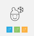 of climate symbol on frosty vector image vector image