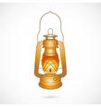Oil Lantern over white vector image
