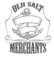 old salt merchants logos and pictures vector image vector image