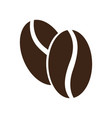 pair of coffee beans icon vector image