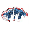 paper cut banner for independence day july 4 vector image