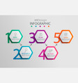paper infographic template with 5 hexagon options vector image