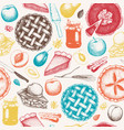 pattern with vinatge baking vector image vector image