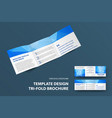 presentation a square booklet with an abstract vector image vector image