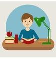 Pupil at school cartoon vector image