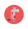 retro meat grinder flat icon design vector image vector image