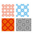 seamless chinese pattern in geometric style vector image vector image