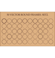 Set of 50 round frames in different styles vector image vector image