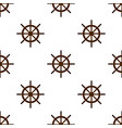 ship handwheel helm marine seamless pattern vector image